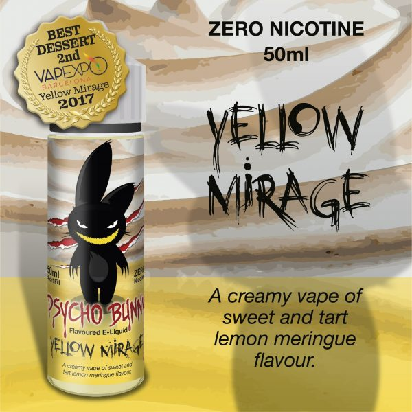 Psycho Bunny Yellow Mirage Flavour MAX VG 50ML